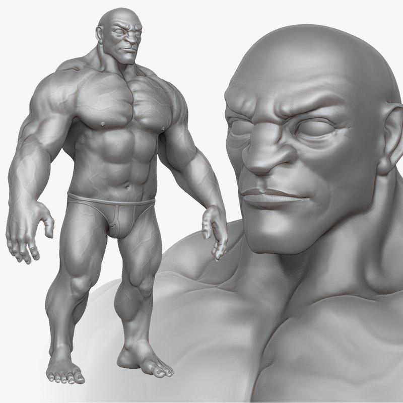 Athletic Male Anatomy 2