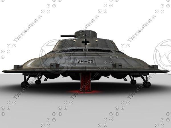 Nazi Haunebu - Model Only 3D Models