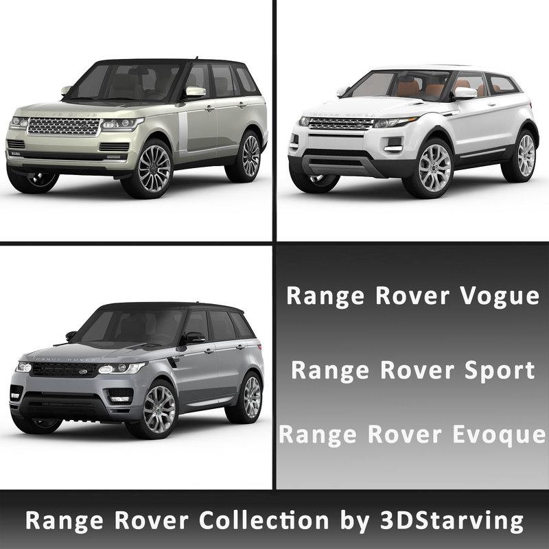 range rover 3d model
