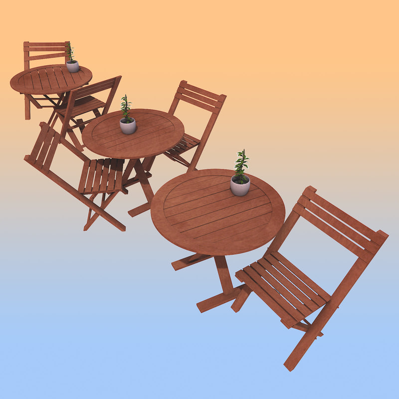 3d model designs old table seat for Table 52 2014