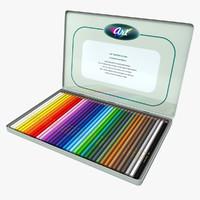 colored pencil 3D models