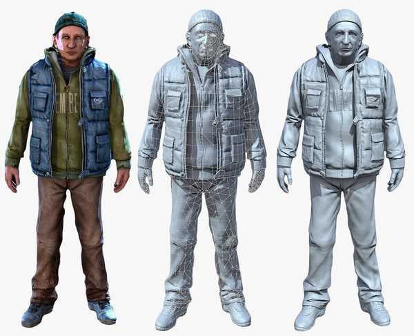 Old Man Texture Maps