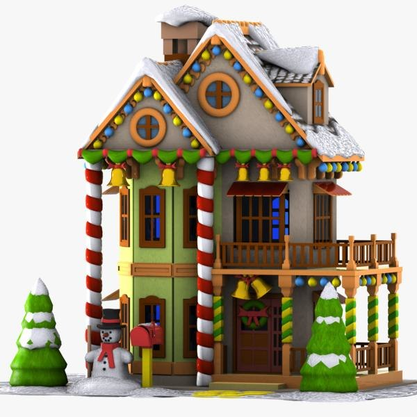 3d model cartoon house toon Build house online 3d free