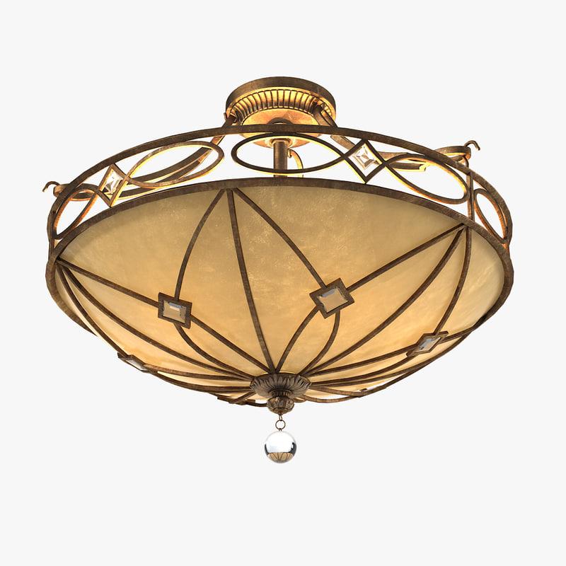 a Minka Aston Court 24 Wide Ceiling Light SEMI FLUSH traditional classic round classical0001.jpg