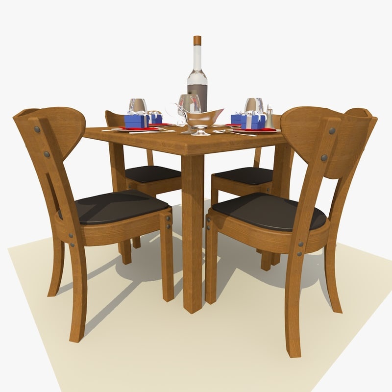 Square Oak Restaurant Table