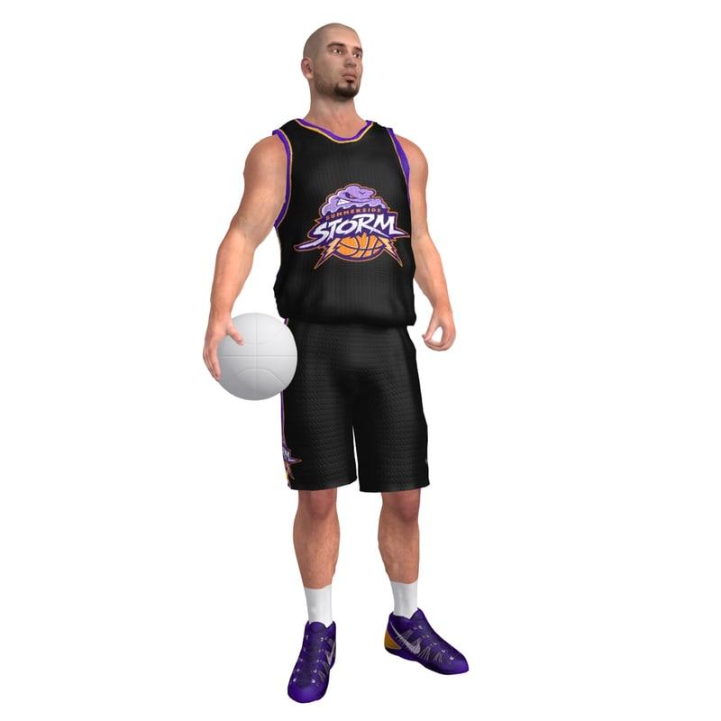 Basketball Player 6 LOD3 Rigged