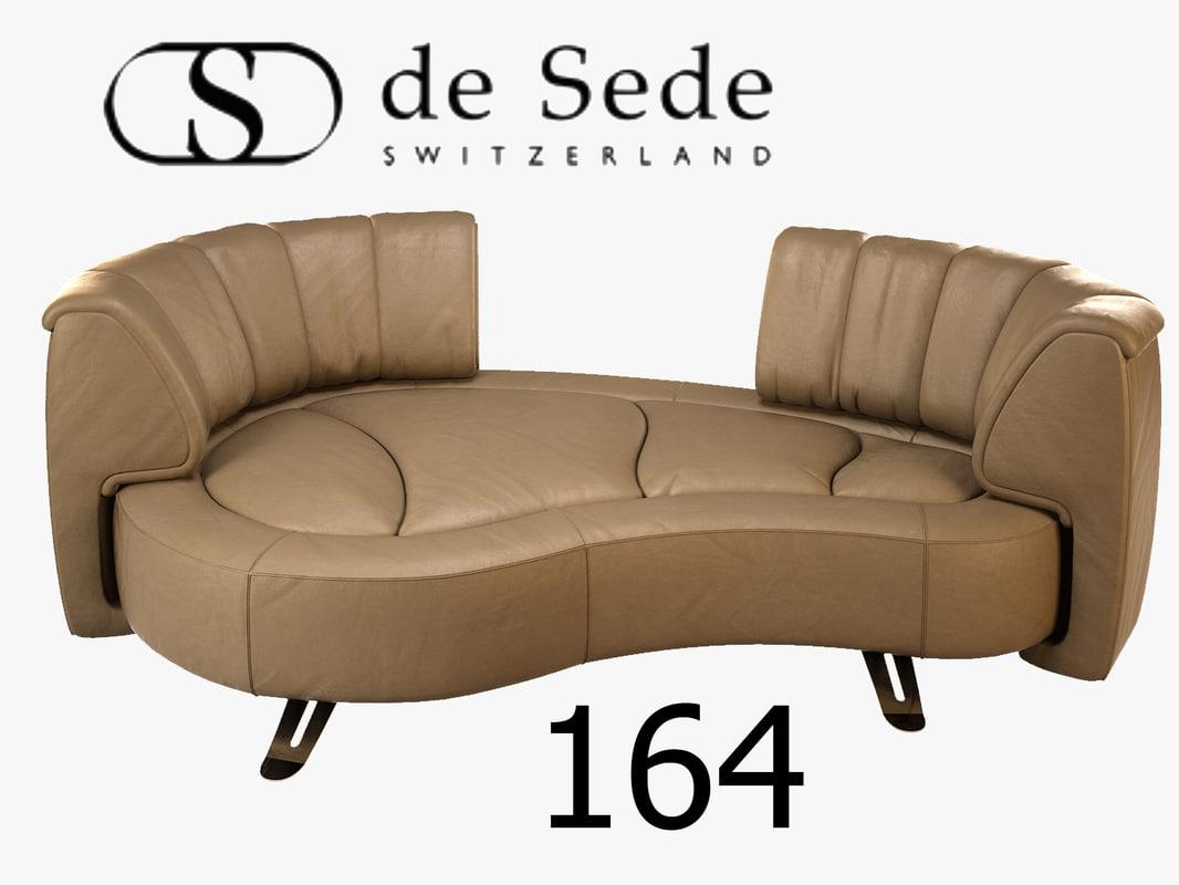 sede 164 3d model. Black Bedroom Furniture Sets. Home Design Ideas