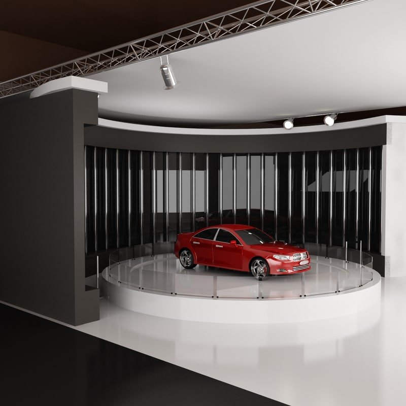 Exhibition Stand Lighting Vehicles : Car exhibition stand d model
