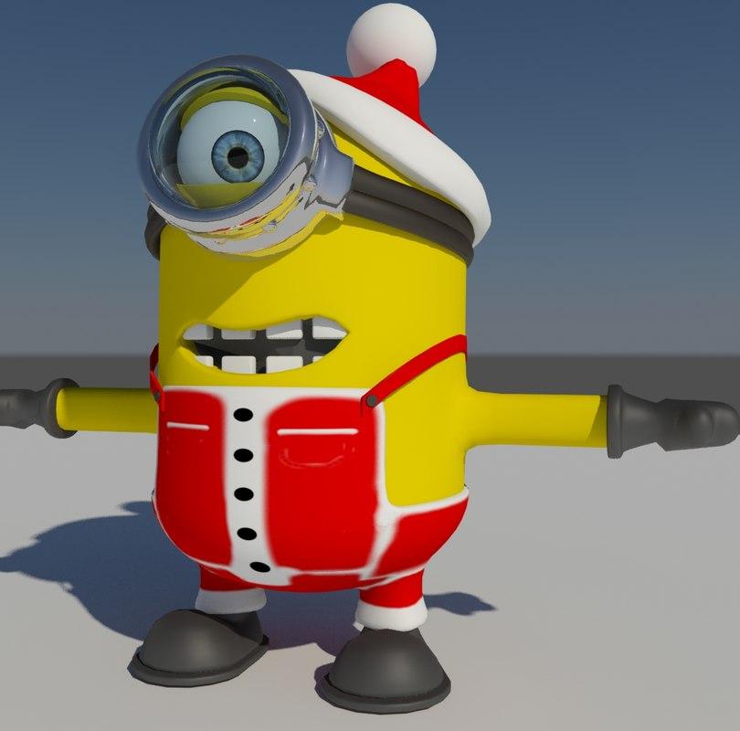 christmas minion 3d model