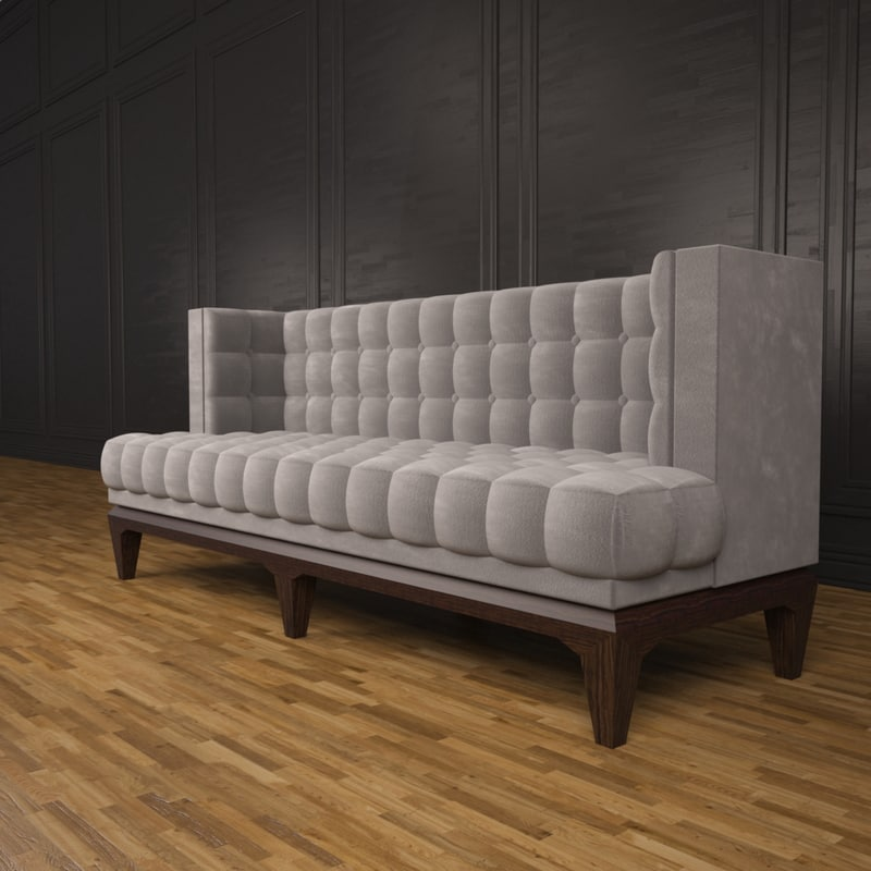 hudson sofa 3d max. Black Bedroom Furniture Sets. Home Design Ideas