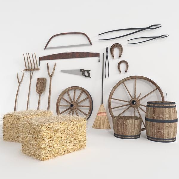 Barn Tools 3D Models