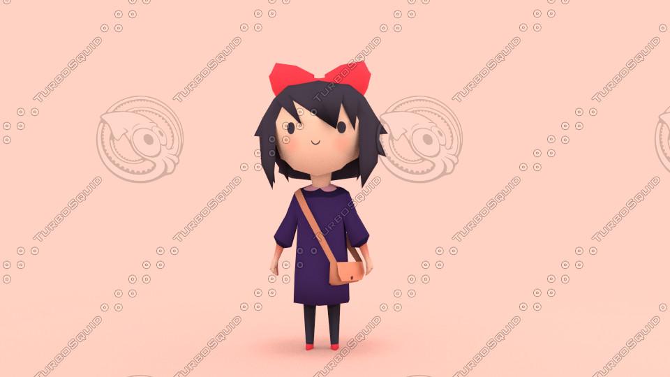 3d model anime chibi kiki