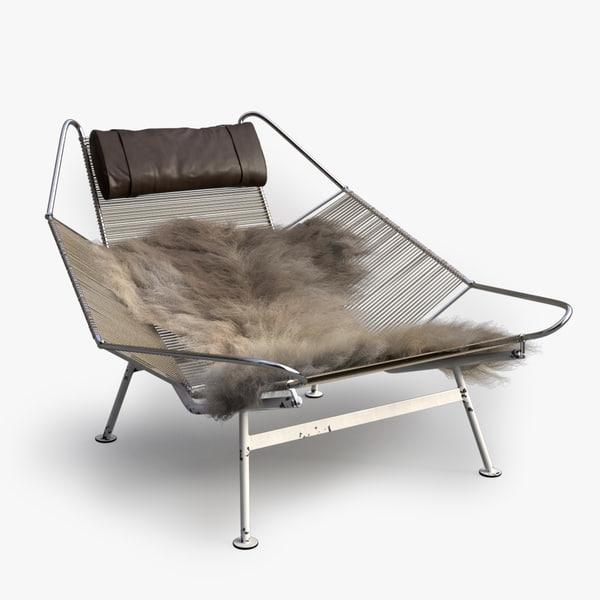 Flag Halyard Chair (PP 225) 3D Models