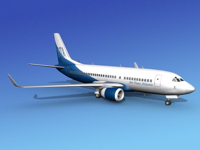 3d model boeing 737 700 737 737 700er