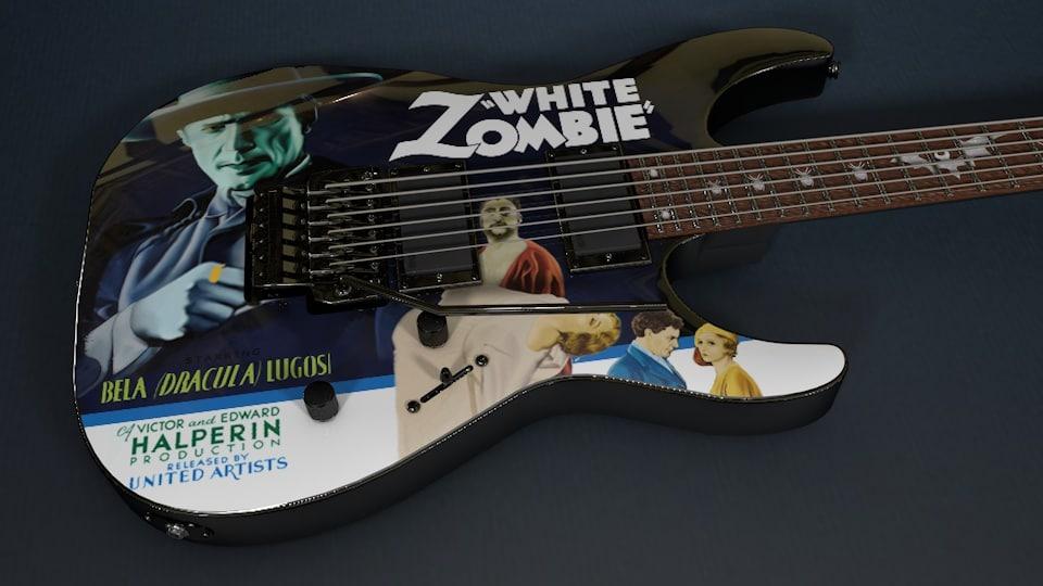 Kirk Hammett - LTD White Zombie Guitar
