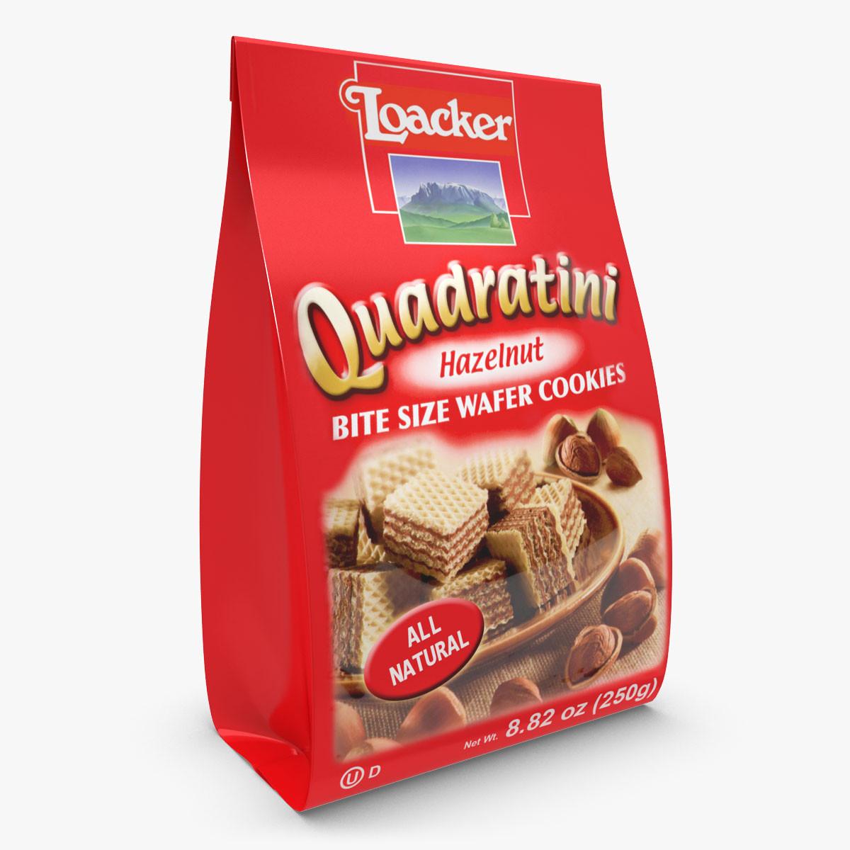 Loacker Quadratini Hazelnut Wafers