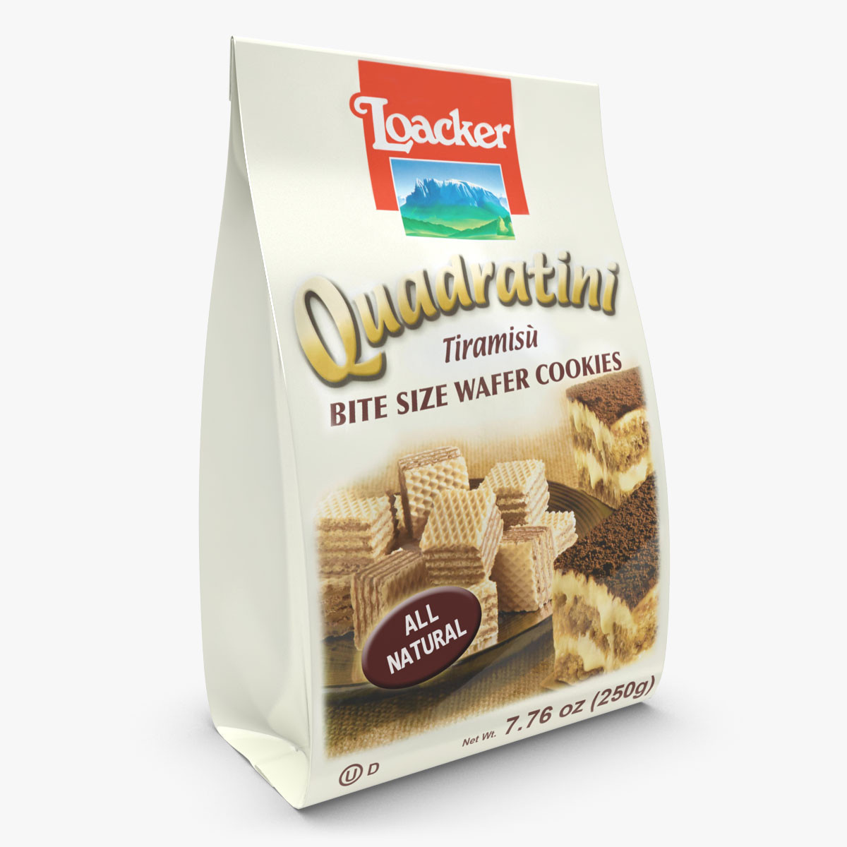 Loacker Quadratini Tiramisu Wafer Cookies