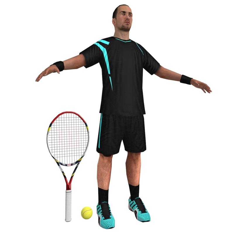 Tennis Player 1 LOD1
