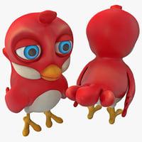Cartoon Bird 3D models