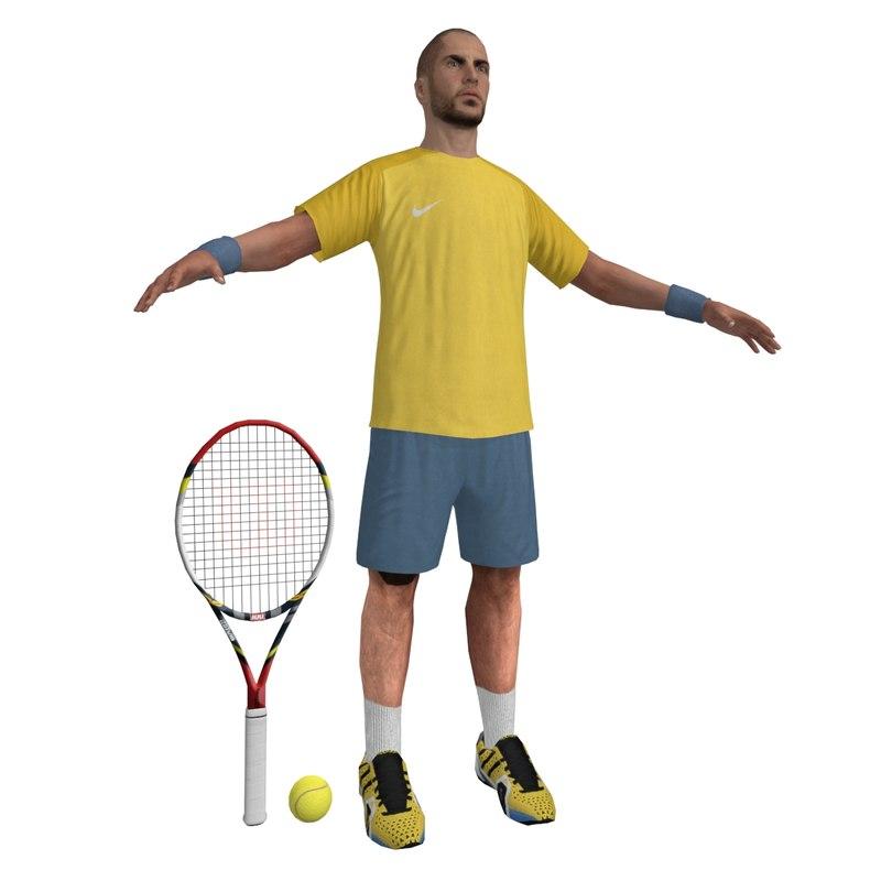 Tennis Player 2 LOD2