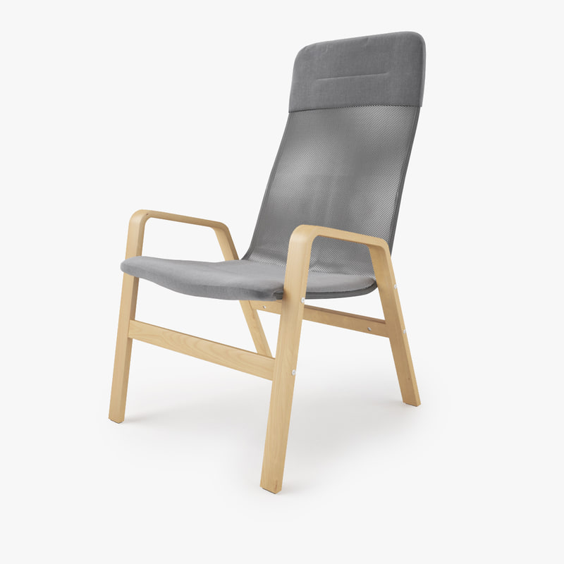 Modern living room interior 3ds max scene with all furniture 3d models - Ikea Nolbyn Armchair 3d Obj