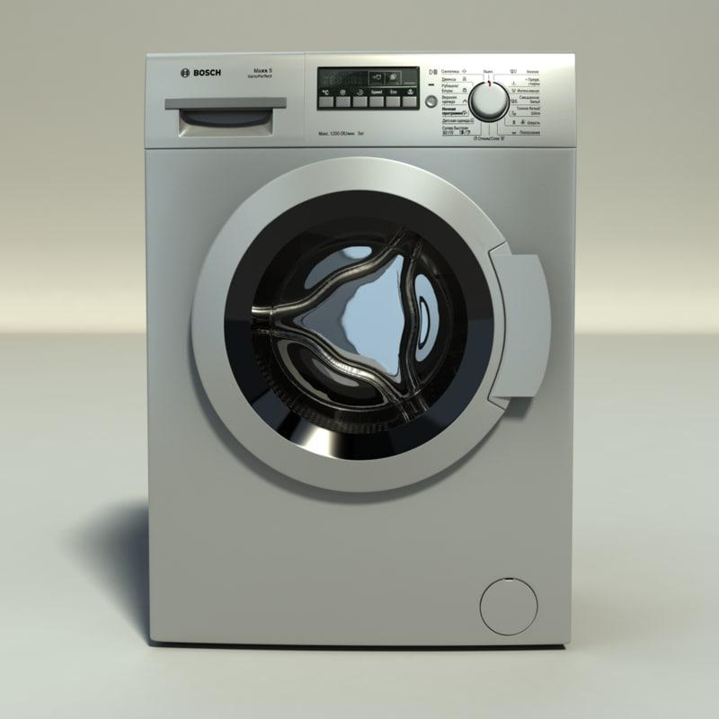washing machine bosch maxx 3d model. Black Bedroom Furniture Sets. Home Design Ideas