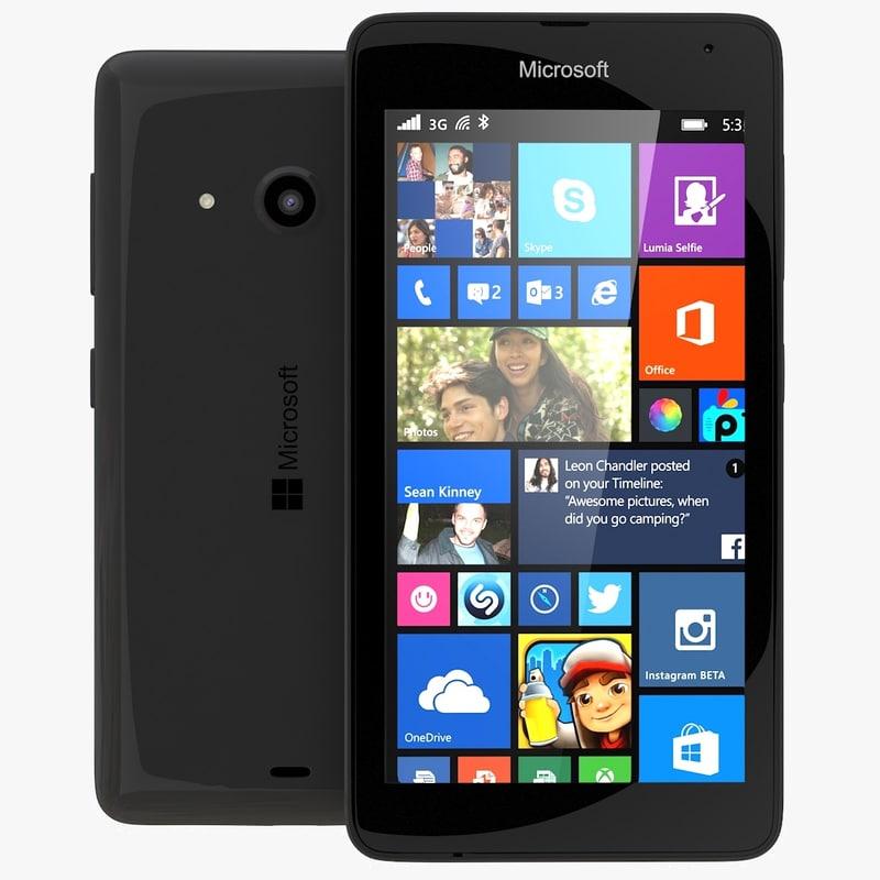 Microsoft Lumia 535 / Dual SIM black: www.turbosquid.com/3d-models/3ds-max-microsoft-lumia-535-dual/869489