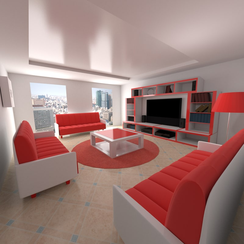 3ds max room for Living room 3ds max