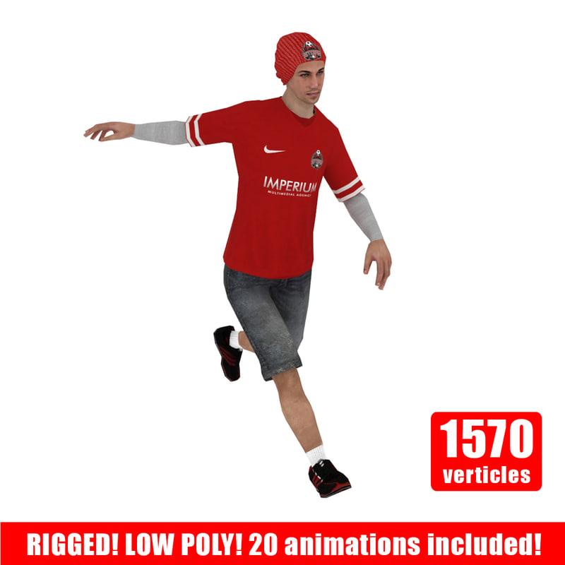 Street Soccer Player V1