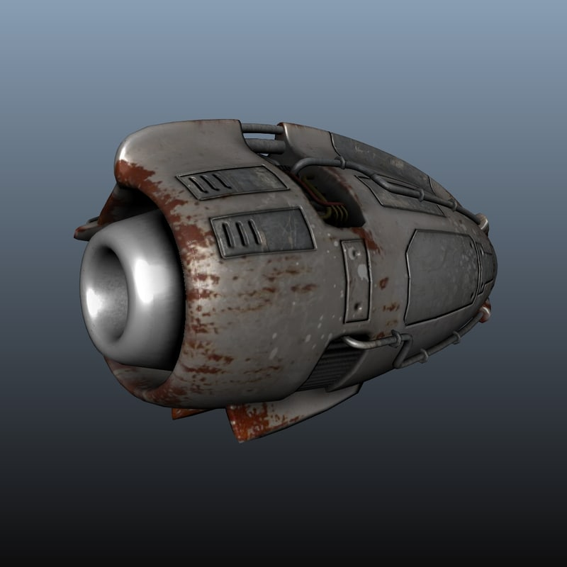 Futuristic Jet Engine 3d Model