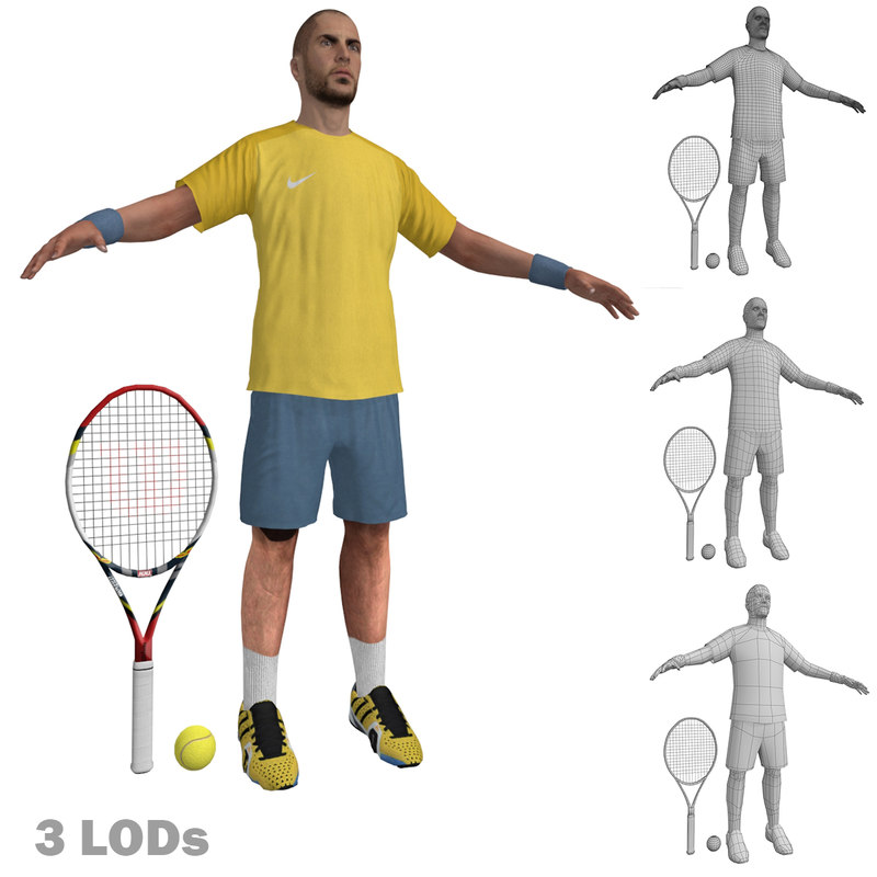 Tennis Player 2 LODs