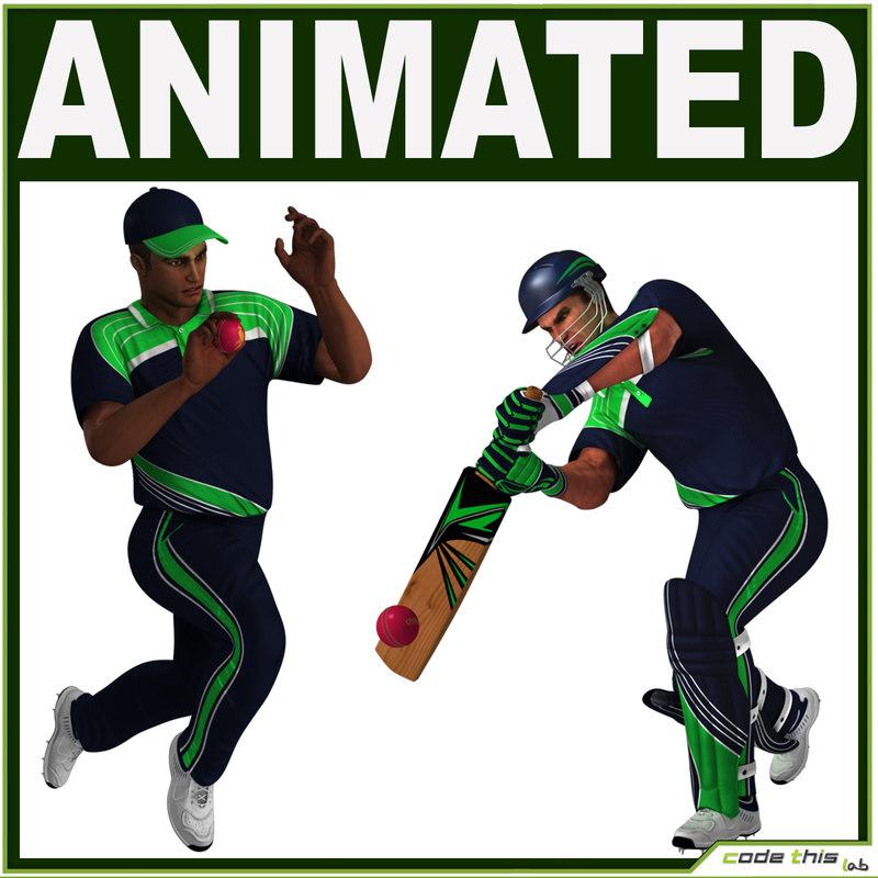 Cricket Batter and Bowler CG