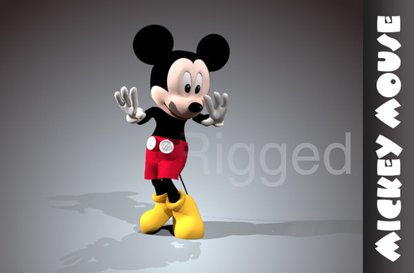 Mickey mouse rigged 3D Models