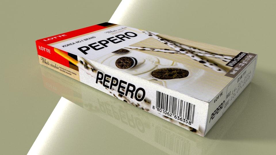 Lotte Pepero White Cookies