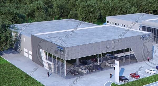 Audi sales centre 3D Models