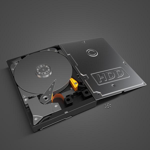 HDD Hard Disk Drive 3D Models