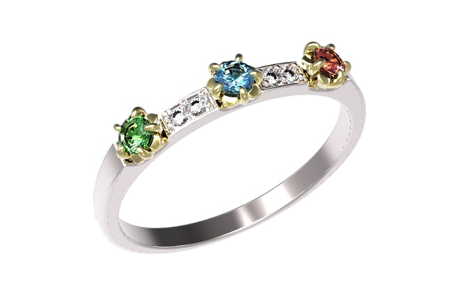 Gold ring with diamonds rubies sapphires emeralds  26-8.jpg
