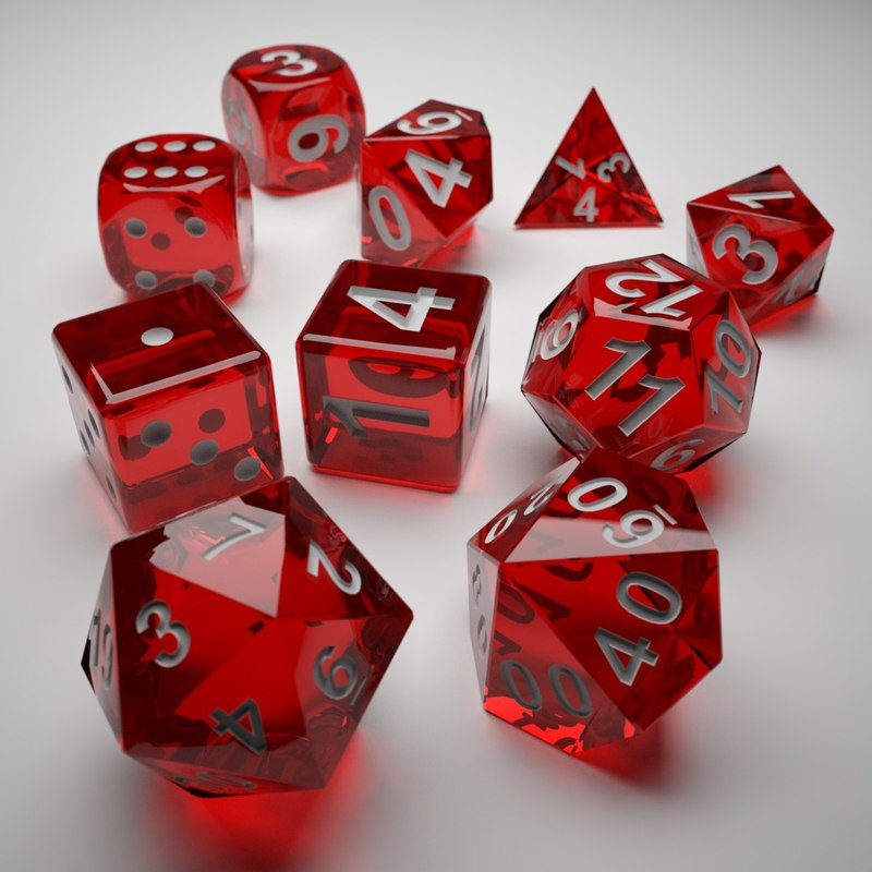 Role Playing Dice - Complete Set
