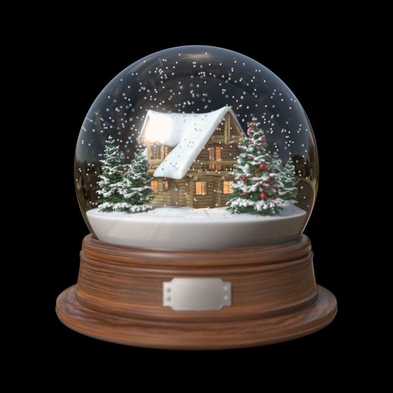 House Snow Globe Snow Globe House 3d Fbx