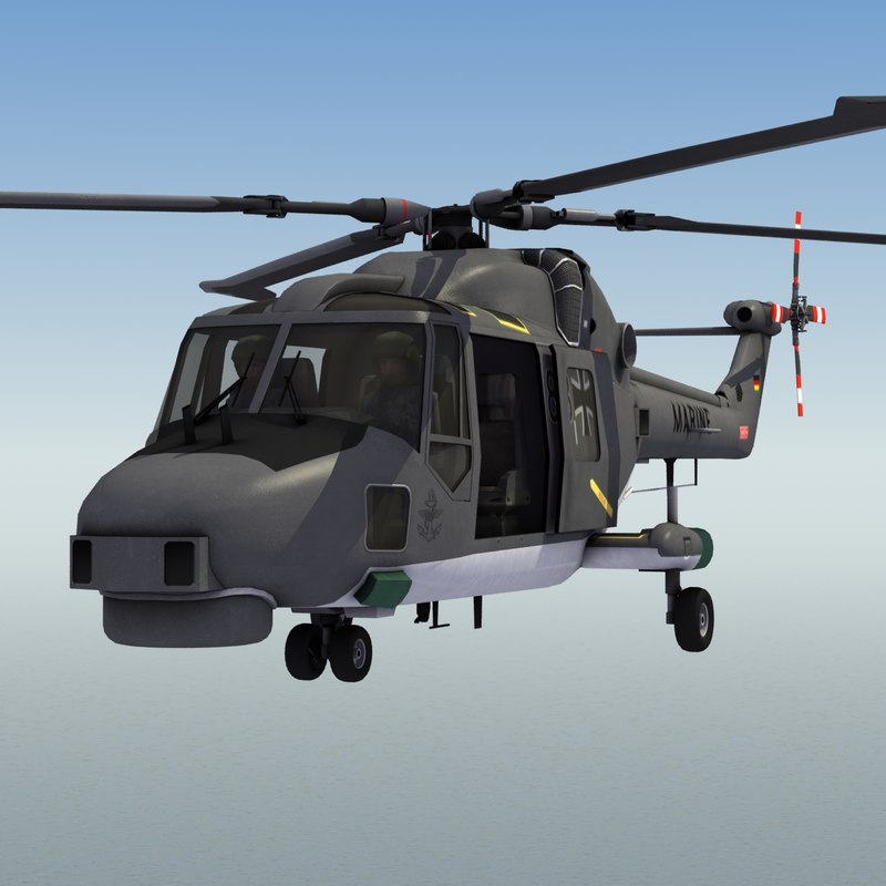 lynx mk88a helicopter 3d model