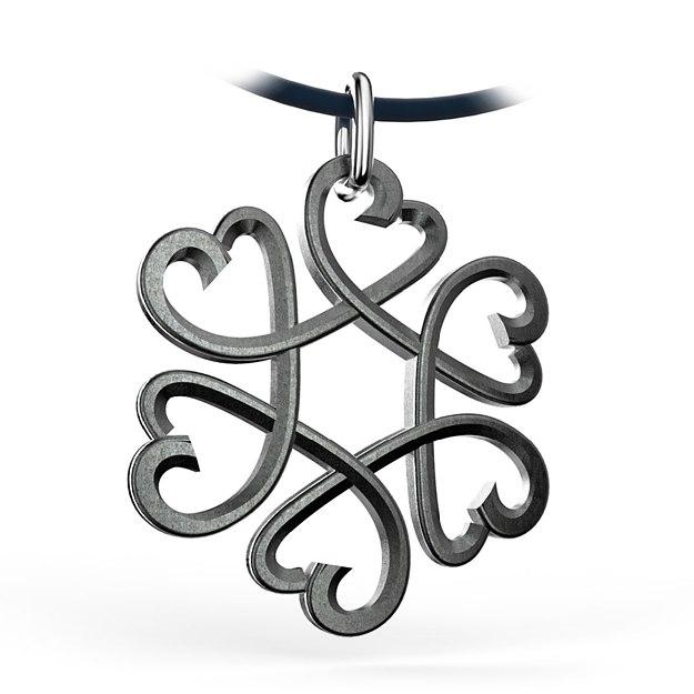 Hearts Star Pendant