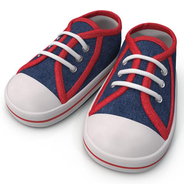 Kids Sneakers 3D Models
