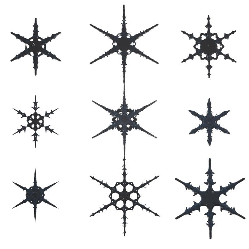 Snow Flakes 3D