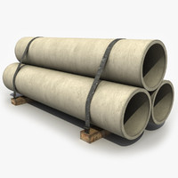 concrete pipe 3D models