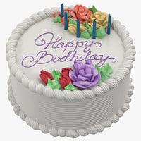 birthday cake 3D models