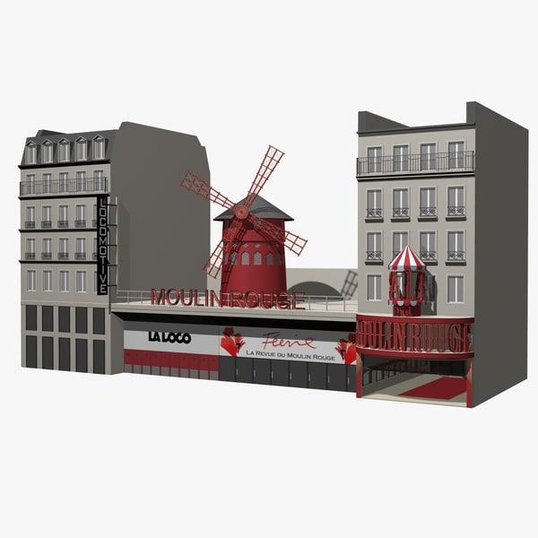 Moulin Rouge 3D Models