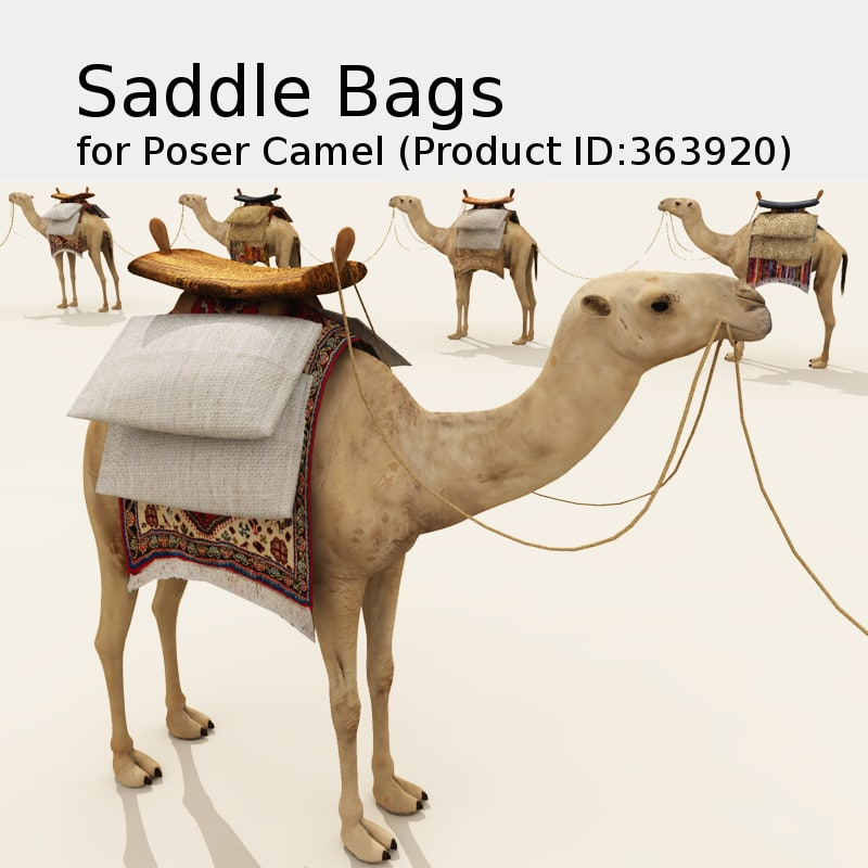 Saddle Bags for Poser Camel