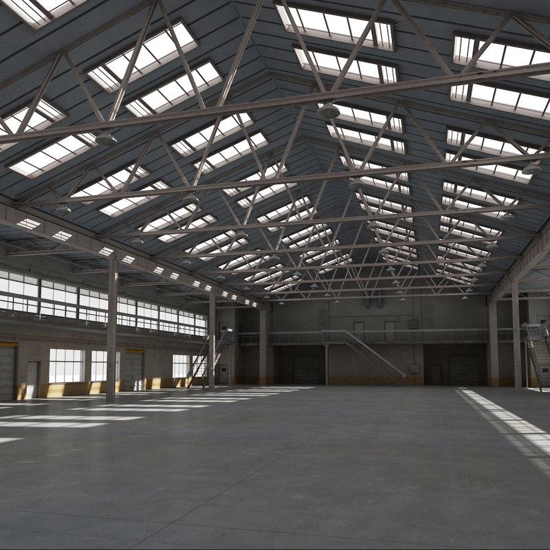 3d model warehouse interior exterior scene