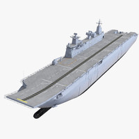 amphibious assault ship 3D models