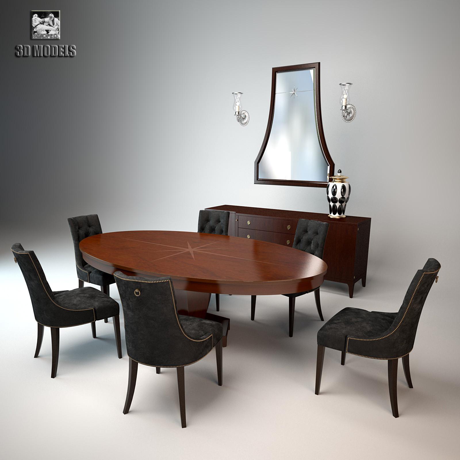 3d Baker Furniture Set Model